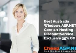 Best Australia Windows ASP.NET Core 2.1 Hosting - DiscountService Exclusive 35% Off