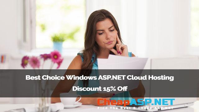 Best Choice Windows ASP.NET Cloud Hosting Discount 15% Off
