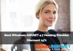 Best Windows ASP.NET 4.7 Hosting Provider Discount 15%