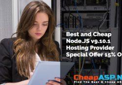 Best and Cheap Node.JS v9.10.1 Hosting Provider Special Offer 15% Off