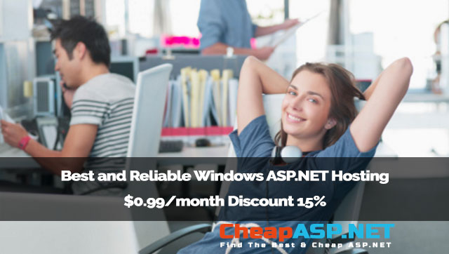 Best and Reliable Windows ASP.NET Hosting $0.99/month Discount 15%