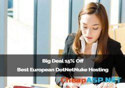 Big Deal 15% Off Best European DotNetNuke Hosting