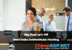 Big Deal 15% Off Best India DotNetNuke Hosting Provider