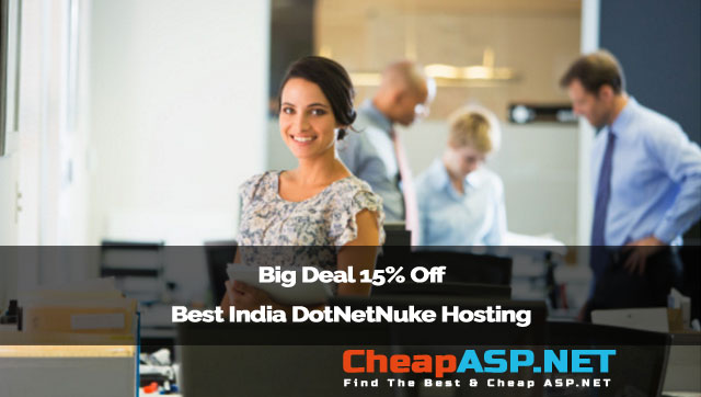Big Deal 15% Off Best India DotNetNuke Hosting Provider