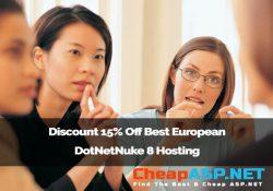 Discount 15% Off Best European DotNetNuke 8 Hosting