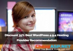 Discount 35% Best WordPress 4.9.4 Hosting Provider Recommendation