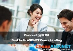 Discount 35% Off Best India ASP.NET Core 2 Hosting