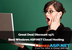 Great Deal Discount 15% Best Windows ASP.NET Cloud Hosting