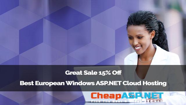 Great Sale 15% Off Best European Windows ASP.NET Cloud Hosting