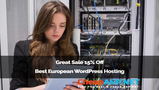 Great Sale 15% Off Best European WordPress Hosting