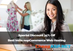 Special Discount 35% Off Best India nopCommerce Web Hosting