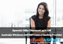 Special Offer Discount 35% Off Australia Windows ASP.NET Core 2 Hosting Provider
