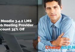 UK Moodle 3.4.2 LMS Web Hosting Provider Discount 35% Off