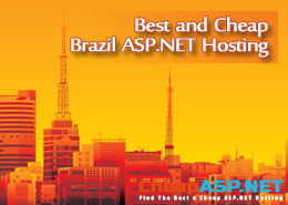 Best and Cheap Brazil ASP.NET Hosting