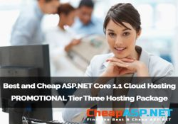 Best and Cheap ASP.NET Core 1.1 Cloud Hosting - PROMOTIONAL Tier Three Hosting Package