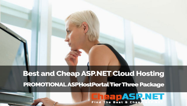 Best and Cheap ASP.NET Cloud Hosting - PROMOTIONAL ASPHostPortal Tier Three Package