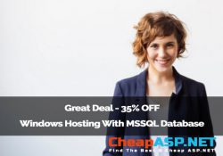 Great Deal - 35% OFF Windows Hosting With MSSQL Database