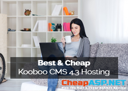 Best and Cheap Kooboo CMS 4.3 Hosting