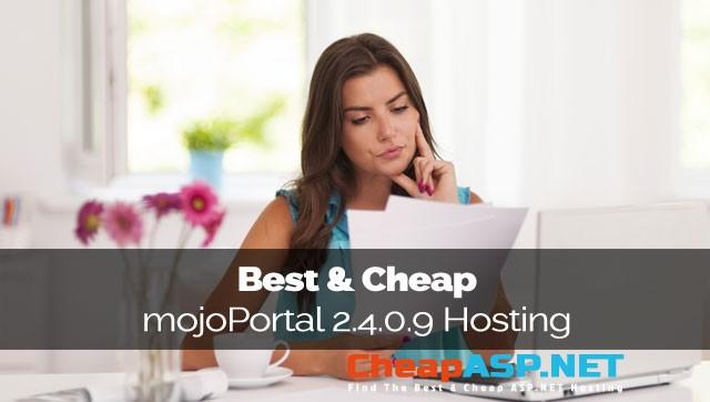 Best & Cheap mojoPortal 2.4.0.9 Hosting