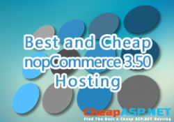 Best and Cheap nopCommerce 3.50 Hosting