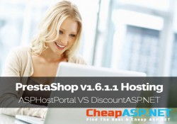 PrestaShop v1.6.1.1 Hosting Comparison - ASPHostPortal VS DiscountASP.NET