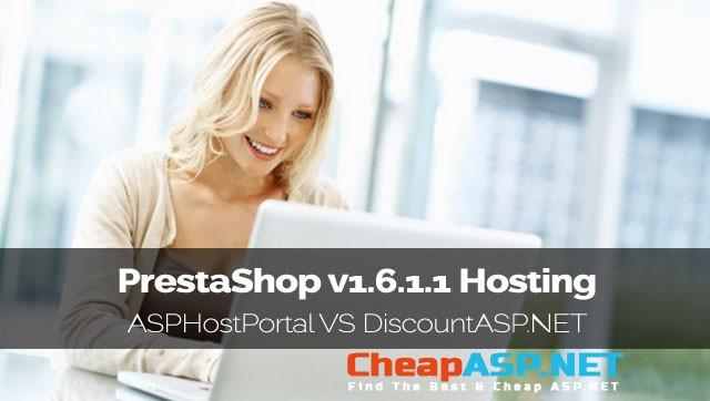PrestaShop v1.6.1.1 Hosting Comparison - ASPHostPortal VS DiscountASP.NET