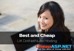Best and Cheap UK DotNetNuke Hosting