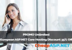 PROMO Unlimited European ASP.NET Core Hosting Discount 35% Off