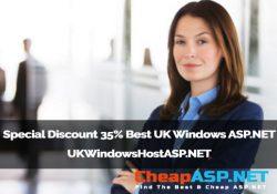 Special Discount 35% Best UK Windows ASP.NET - UKWindowsHostASP.NET